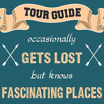 funny shirt tour guide - travel by Juttas-Shirts