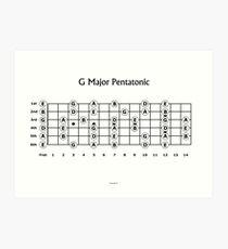 The G major Pentatonic Scale for Guitar Art Print