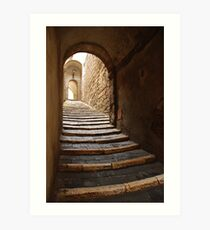 Stepped Street in Pitigliano Art Print