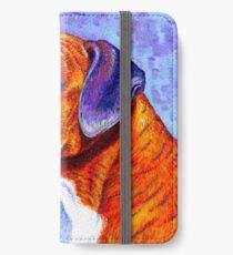 Colorful Brindle Boxer Dog iPhone Wallet/Case/Skin