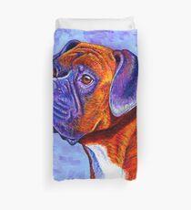 Colorful Brindle Boxer Dog Duvet Cover