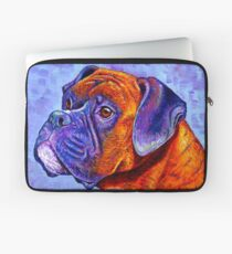 Colorful Brindle Boxer Dog Laptop Sleeve