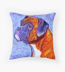 Colorful Brindle Boxer Dog Floor Pillow