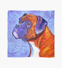 Colorful Brindle Boxer Dog Scarf