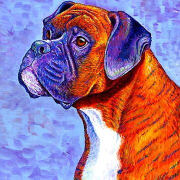 Colorful Brindle Boxer Dog by lioncrusher
