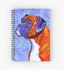 Colorful Brindle Boxer Dog Spiral Notebook