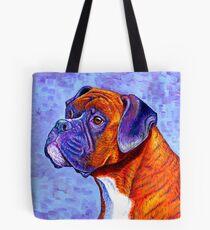 Colorful Brindle Boxer Dog Tote Bag