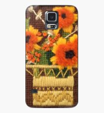 Mother's Day Card Embroidered Basket of Flowers  Case/Skin for Samsung Galaxy