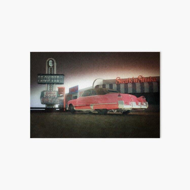 american Diner Caddy Galeriedruck