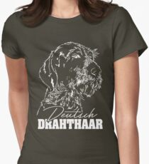 GERMAN DRAHTHAAR hound dog dogs gift idea Women's Fitted T-Shirt