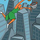 Dunk City Basketball Painting by DOODL