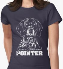 GERMAN SHORTHAIRED POINTER Hound dog dog gift idea Women's Fitted T-Shirt