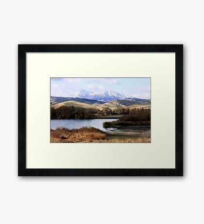 Mount Diablo Framed Print