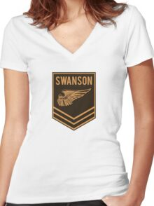 Parks and Recreation - Swanson Ranger Club Women's Fitted V-Neck T-Shirt