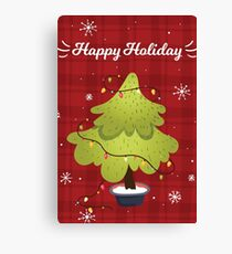 Christmas Card Canvas Print