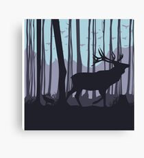 Deers in the forest Canvas Print