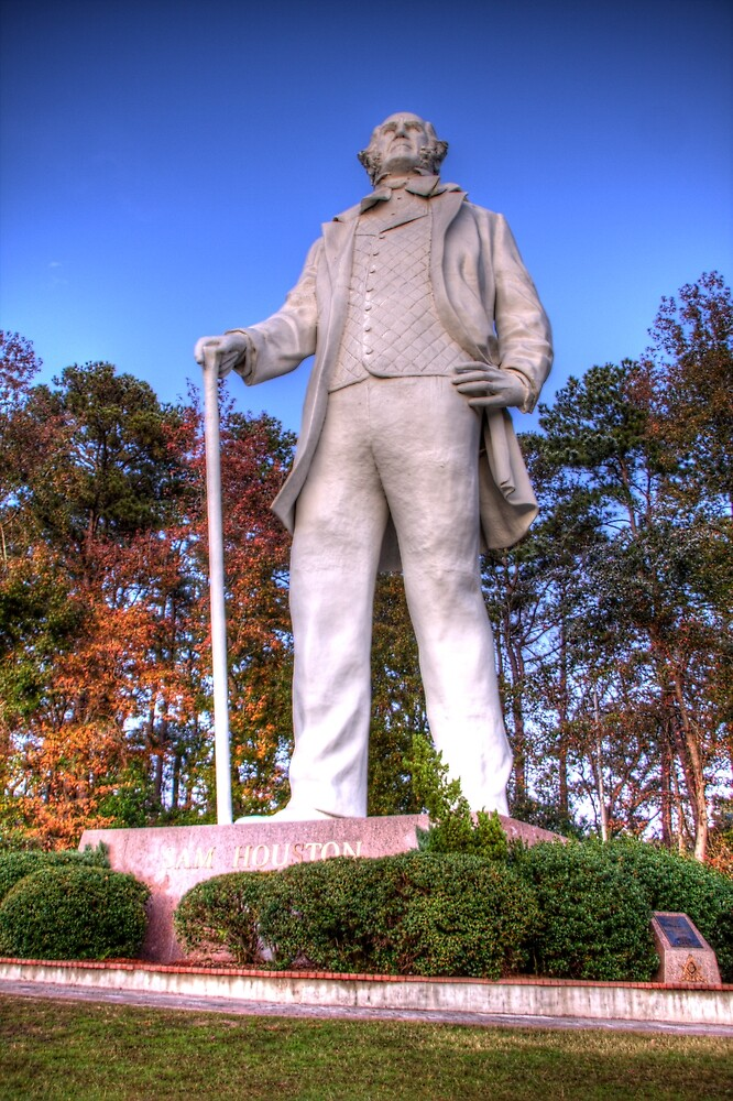Sam Houston Statue in Huntsville by Terence Russell