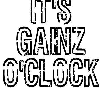 It's Gainz O'Clock Funny Fitness Workout Quote by ByTekk