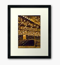 Casino Limo Framed Print