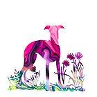 Liquid Whippet, Greyhound by Dora Wilson