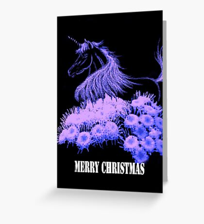 Unicorn Christmas Greeting Card