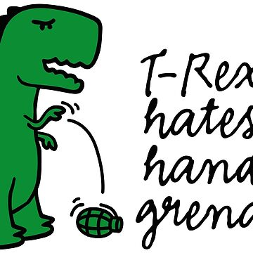 T-rex hates hand grenades army infantry soldier by LaundryFactory