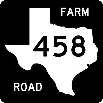 Texas Farm-to-Market Road FM 458 | United States Highway Shield Sign by djakri