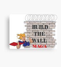 TRUMP Build the Wall MAGA  Canvas Print
