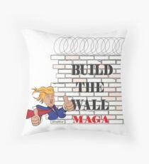 TRUMP Build the Wall MAGA  Throw Pillow