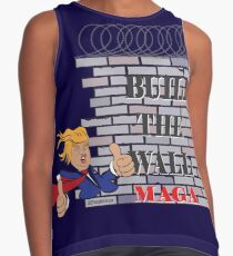 TRUMP Build the Wall MAGA  Contrast Tank