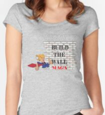 TRUMP Build the Wall MAGA  Women's Fitted Scoop T-Shirt