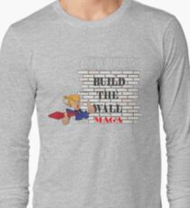 TRUMP Build the Wall MAGA  Long Sleeve T-Shirt