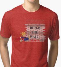 TRUMP Build the Wall MAGA  Tri-blend T-Shirt