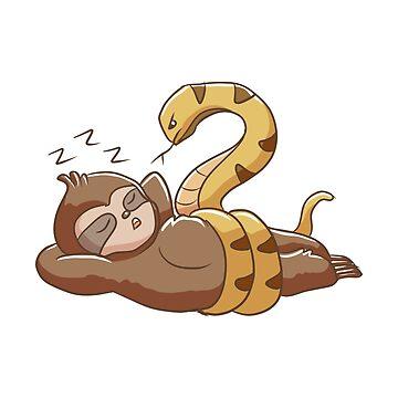 No Hurry Sleeping Sloth Snake by rkhy