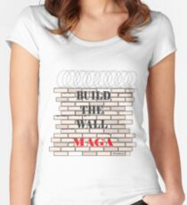 Build the Wall MAGA  Women's Fitted Scoop T-Shirt