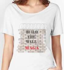 Build the Wall MAGA  Women's Relaxed Fit T-Shirt