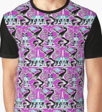 Drachen Muster Rosa Grafik T-Shirt