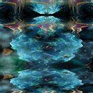 Blue Fantasy Fractal Reflection by maf01