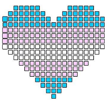 Trans pixel heart by kittykarnstein