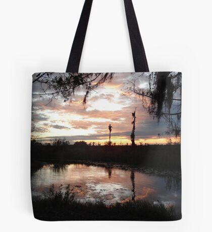 Sunset on Econfina 12-09 Tote Bag