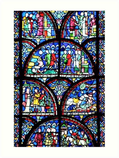 Stained glass window by chihuahuashower