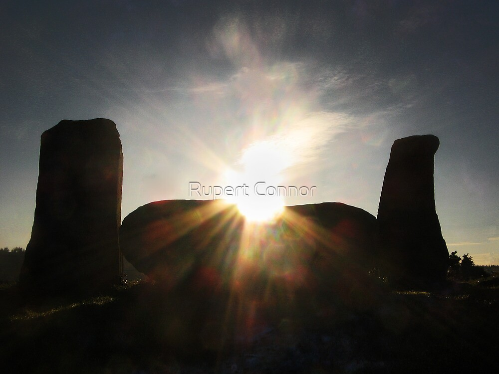 Winter Sun over Strichen Stone Circle by Rupert Connor