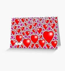Heart balloons Greeting Card