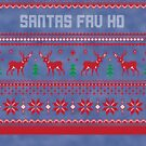 Santas Fav Ho Christmas Sweater by CreatedTees