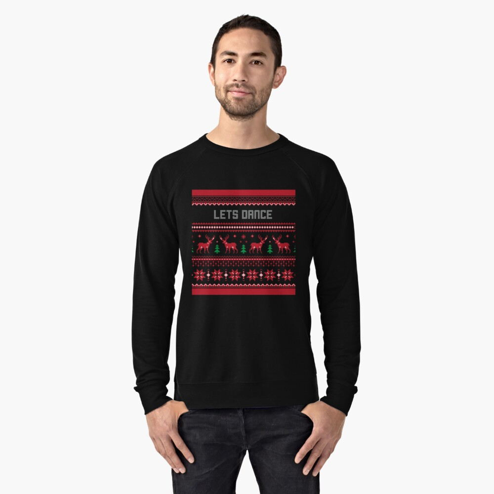Lets Dance Christmas Sweater Lightweight Sweatshirt Front