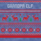 Grandpa Elf Christmas Sweater by CreatedTees