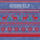 Angry Elf Christmas Sweater by CreatedTees