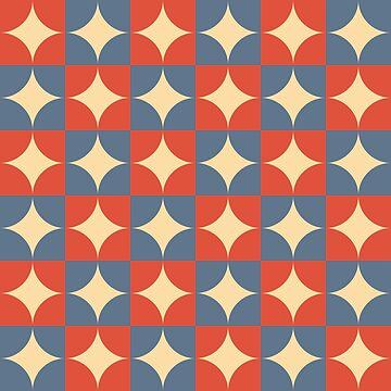Retro wallpaper pattern, 1950's by JC-Frost