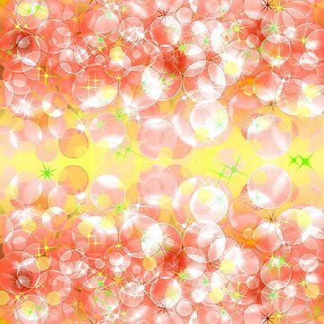 Pink and yellow defocused bokeh pattern wallpaper.  by IaroslavB
