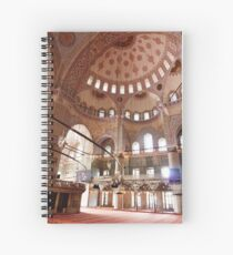 The Blue Mosque Interior  Spiral Notebook